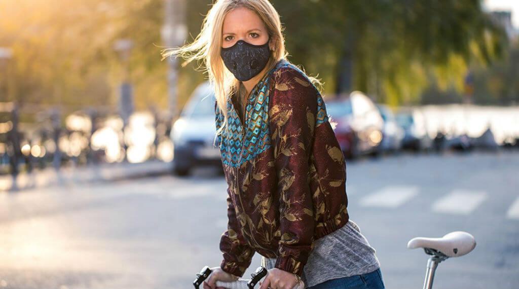 masque anti pollution pour faire du velo